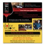 Dolce Veloce Wine Bar Print Ad